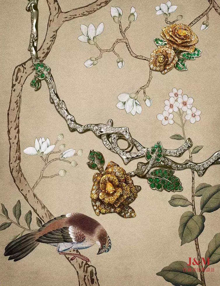 英版芭莎的配飾大片,珠寶+畫作=不一樣的藝術(上篇)
