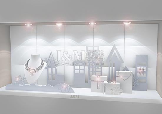 四季主题珠宝橱窗设计-深圳市佳缘美首饰包装工艺有限